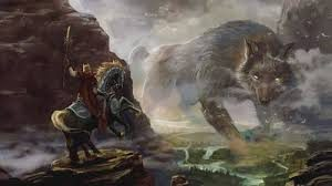 Fenrir emboscando a Odin