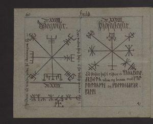 Símbolo Vegvísir encontrado en el Manuscrito de Huld