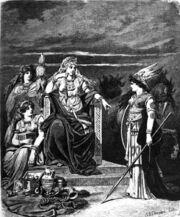 diosa vikinga frigg y sus sirvientas fulla por emil doepler
